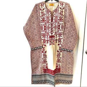 Sana Safinaz Long Embroidered Khaddar Kurta Tunic